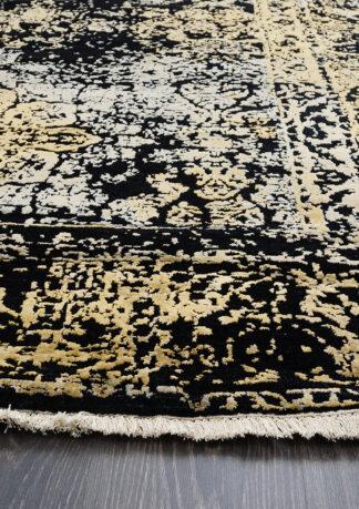Paklājs Fresco 2001C4 BLK-LGLD 2
